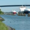 Nord-Ostsee-Kanal mit Hochbrücke