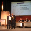 Dr. Johann Brunkhorst, Chairman of TK, the major health insurance company of Germany, and Prof. Hartmut Göbel receiving the national award for the best patient care  concept in Berlin